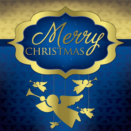hark: Elegant hanging decoration Christmas card in vector format  Illustration