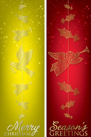 hark: Christmas filigree banners