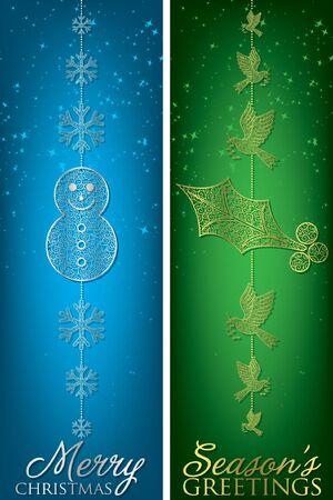 Christmas filigree banners