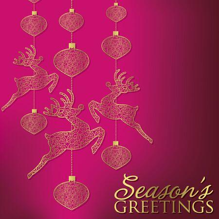 festive occasions: Elegant hanging filigree decoration card