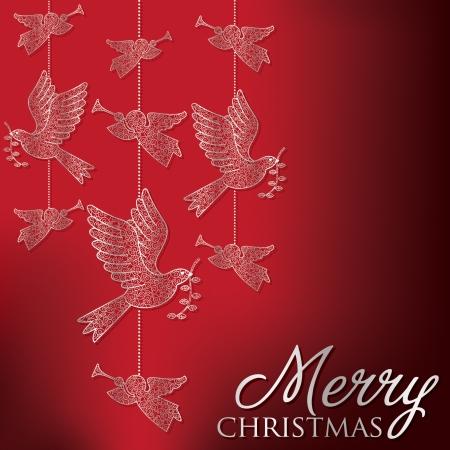 Elegant hanging filigree decoration card
