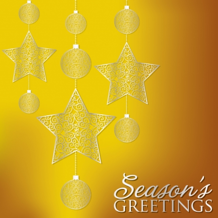 Elegant hanging filigree decoration card  Vector