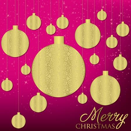 festive occasions: Elegant hanging ornament card  Illustration