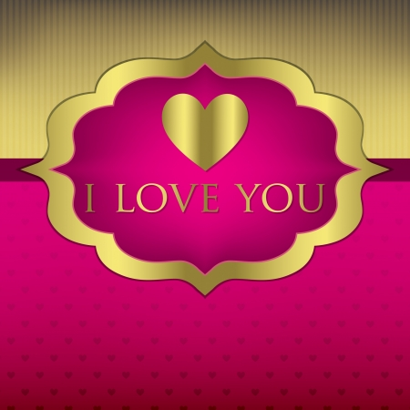 Label Valentine s Day heart card invitation in vector format