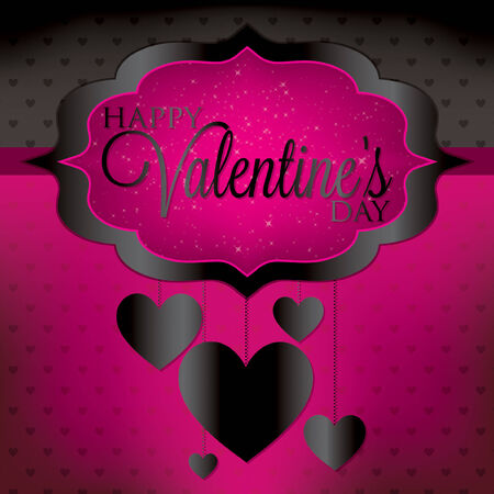 Valentine s Day hanging heart card in vector format  Vector