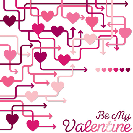 Be my Valentine heart maze in vector format  Vector