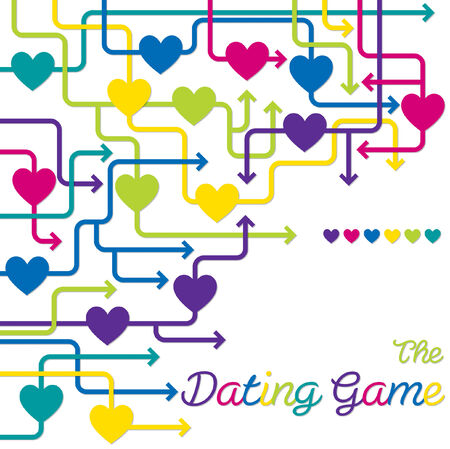 The Dating Game maze of hearts in vector format  Vector
