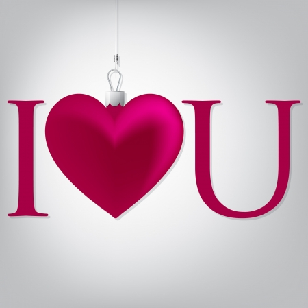 Love  heart Valentine s Day card in vector format