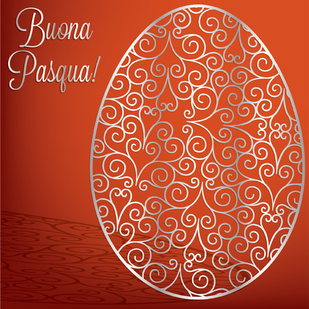 pasqua: Filigree egg  Happy Easter  card in vector format