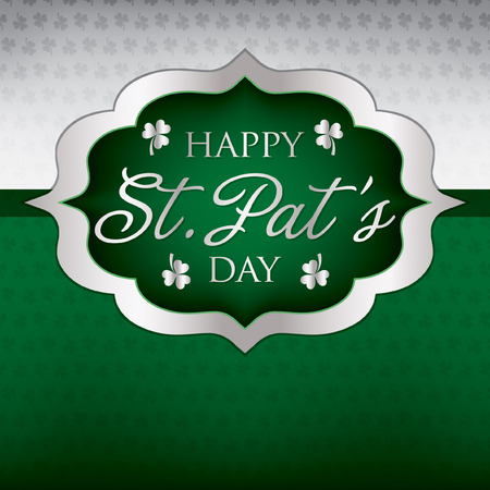Saint Patrick s Day card in vector format  Vector