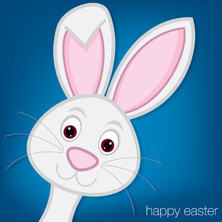 conejo caricatura: Tarjeta de conejito de Pascua en formato vectorial Vectores