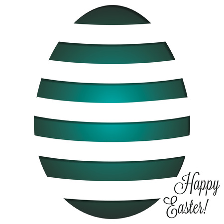 Paper cut out Easter egg card in vector format  Vector
