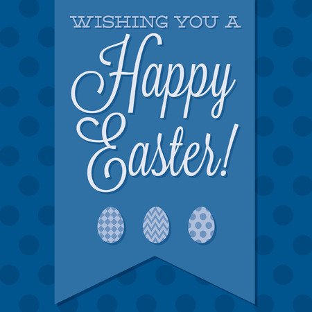 Retro style  Happy Easter  card in vector format  Vector