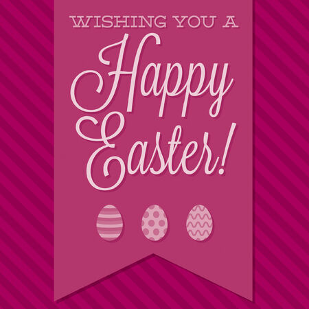 stripe pattern: Retro style  Happy Easter  card in vector format