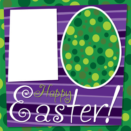 observance: Bright retro Happy Easter card in vector format