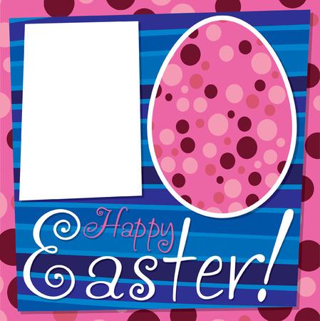Bright retro Happy Easter card in vector format  Vector