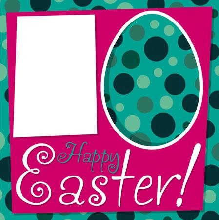 Bright retro Easter card in vector format  Vector