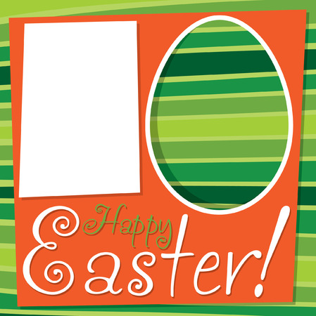 christian festival: Bright retro Easter card in vector format