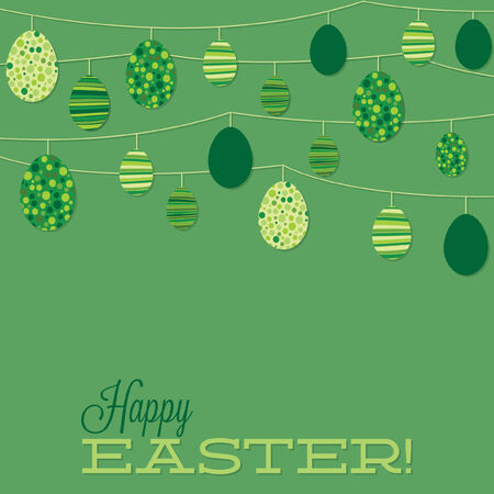 christian festival: String of retro Easter eggs in vector format  Illustration