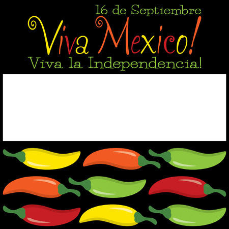 Funky Viva Mexico chilli card in vector format  Vector