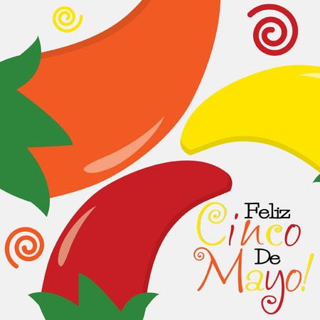 5th: Cinco de Mayo  Happy 5th of May  card in vector format  Illustration