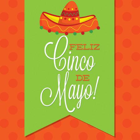 Retro style Cinco de Mayo  Happy 5th of May  card in vector format  Vector