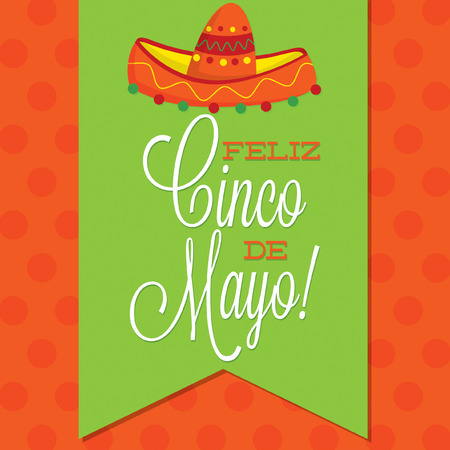 Retro style Cinco de Mayo  Happy 5th of May  card in vector format