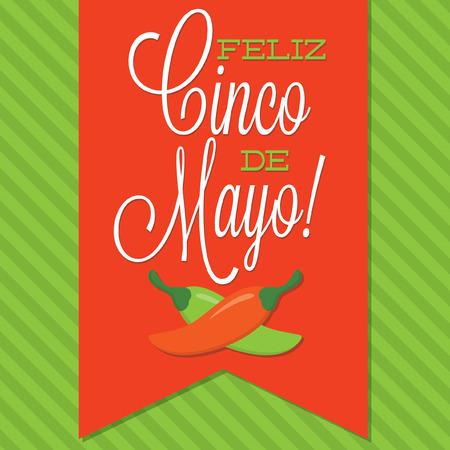 5th: Retro style Cinco de Mayo  Happy 5th of May  card in vector format