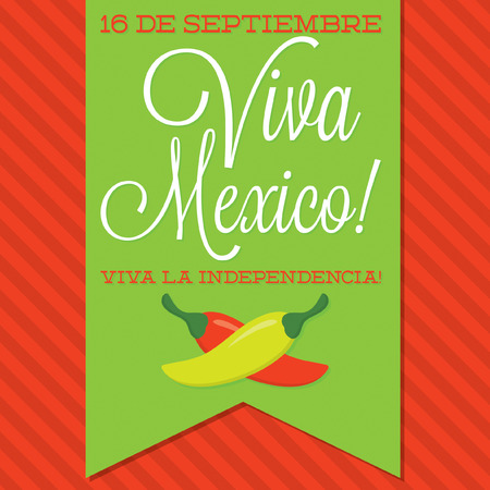 fiesta: Retro style Viva Mexico  Mexican Independence Day  card in vector format