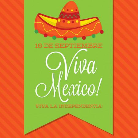 independencia: Estilo retro Viva M�xico Tarjeta D�a de la Independencia de M�xico en formato vectorial
