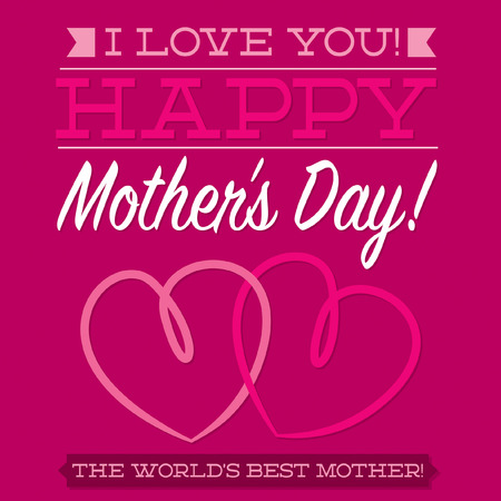 Happy Mother s Day typographic card in vector format  Vector