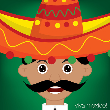 Mexican Man Character in vector format  Vector