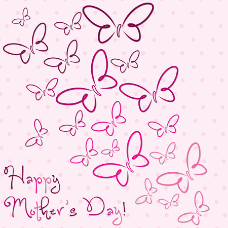 Happy Mother s Day butterfly card in vector format Stock Vector - 27905572