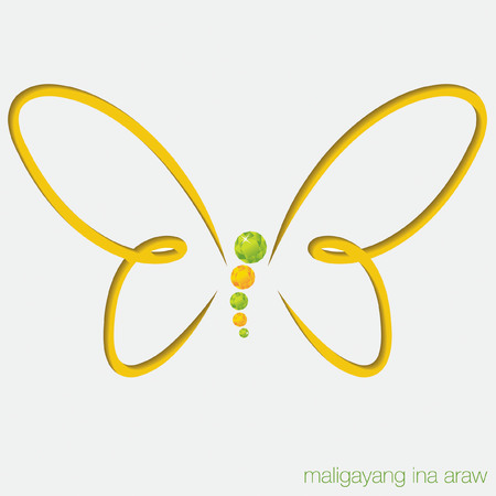peridot: Cut out butterfly card with gems in vector format