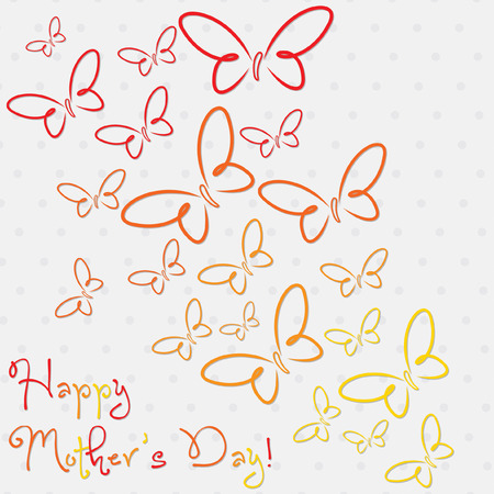 Happy Mother s Day butterfly card in vector format  Vector