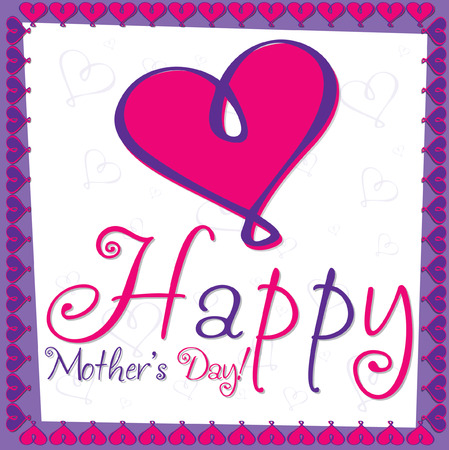 Happy Mother s Day bright heart card in vector format  Vector