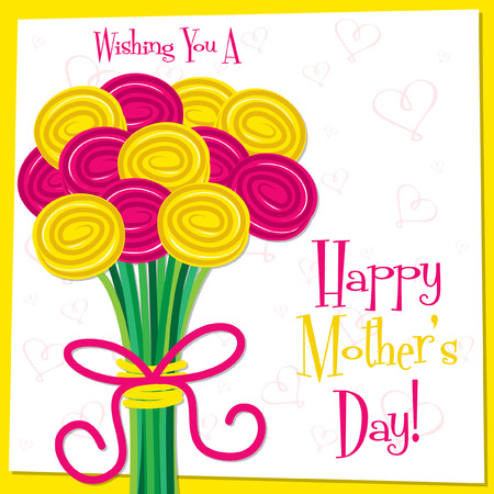 Bonne Mère de la Journée rose vif carte au format vectoriel Banque d'images - 27905633