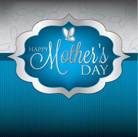 Elegant Mother s Day card in vector format  Vector