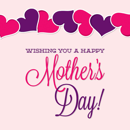 Vintage Typographic Mother s Day card in vector format  Illustration