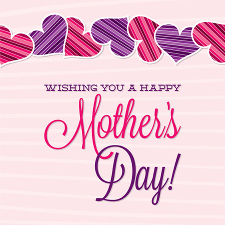 Vintage Typographic Mother s Day card in vector format  Vector