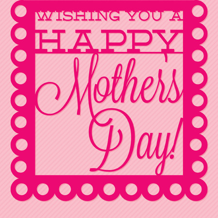 mother s love: Papel picado Mother s Day card in vector format