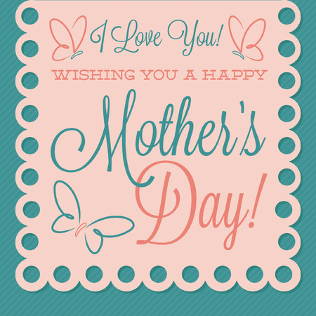 mama: Papel picado Mother s Day card in vector format