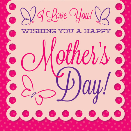 Papel picado Mother s Day card in vector format