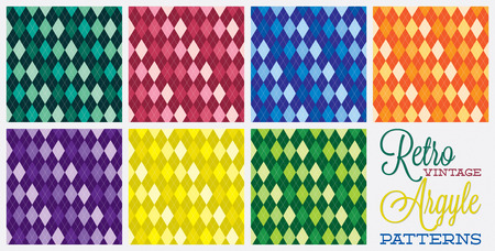Retro vintage argyle patterns in vector format