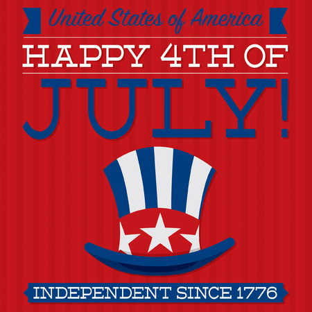 Retro Independence Day card in vector format  Vector