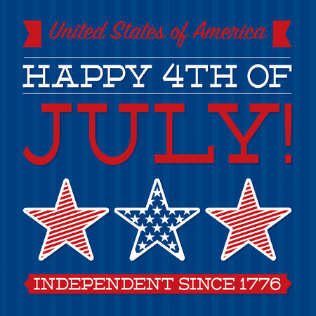Retro Independence Day card in vector format Stock Vector - 28485836