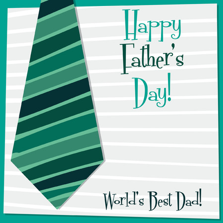 Father s Day tie card in vector format  Vector