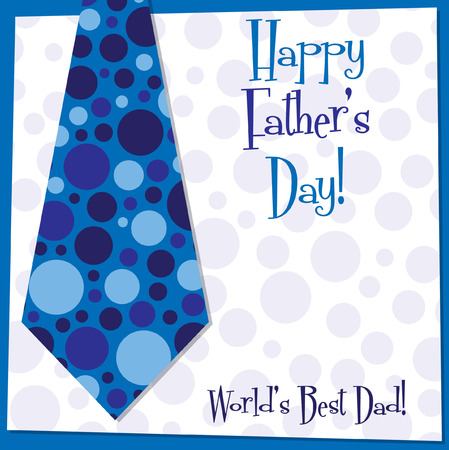 father s day: Father s Day tie card in vector format