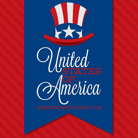 Retro ribbon Independence Day card in vector format