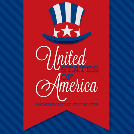 Retro ribbon Independence Day card in vector format  Vector